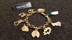Bracciale in oro firmato Barbara B.