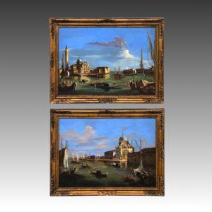 Coppia antichi dipinti Giuseppe Ponga