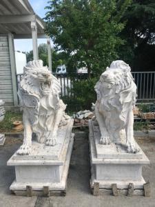 Мраморные львы 180 х 72 х 170ч