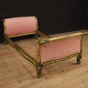 Lacquered and painted Venetian bed