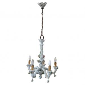 Capodimonte 瓷质吊灯五灯