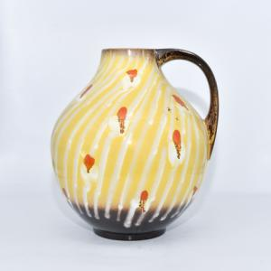 Westdeutschland Glasierte Keramikvase / Krug, Keramikvase Cartens