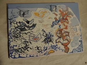 tile designed by Salvator Dalì 22 x 29 cm