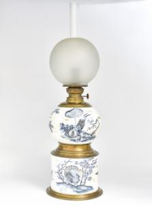 Öllampe aus lackierter Keramik, Öllampe aus lackierter Keramik