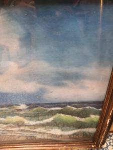 Dipinto mareggiata gainotti