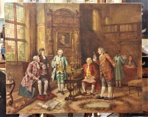 Pintura a óleo sobre tela Início do século XX