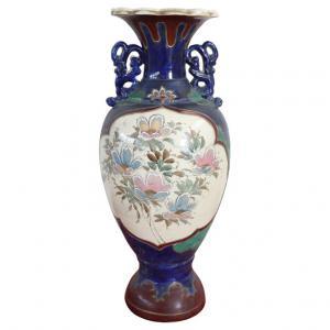 Vaso vintage satsuma in ceramica policroma anni 1960 circa PREZZO TRATTABILE