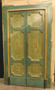 ptl216 par de portas azuis e amarelas, mis. cm máximo l 138 xh 225