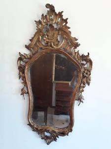 Lindo espelho de meca dourado h130xl70 garantido por lei