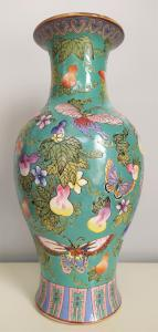 Vaso in porcellana turchese