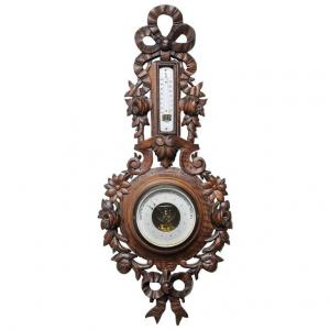Ancient French barometer with love knot