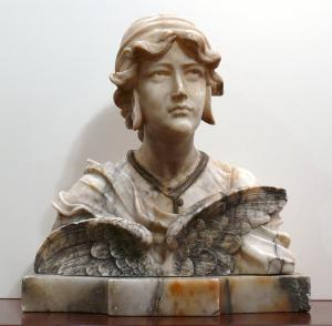 Marble bust of a woman - Z / 1448