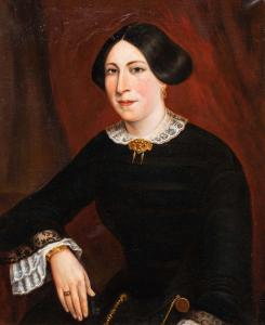 Retrato de una dama, del siglo XIX.