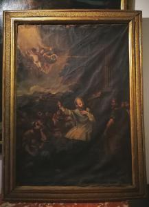 第一幅油画-在灿烂的喷砂罗马框架上宣扬圣弗朗西斯的销售-17世纪