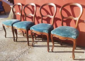 gruppo di quattro sedie Luigi Filippo