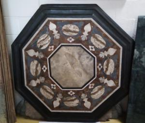 Polychrome marble top