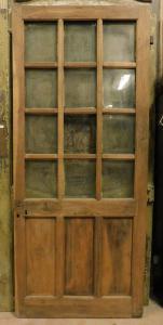 pte132 - деревянная дверь со стеклом, период '7 /' 800, см l 90 xh 212
