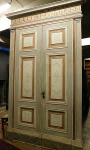 ptl480 - lacquered door with fish decorations, max. cm 180 x 288 h
