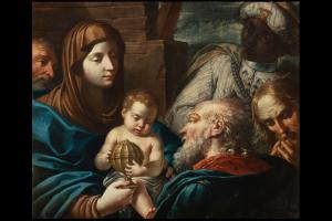 Андреа Селести (Венеция, 1637 - Тусколано, 1712) Поклонение волхвов
