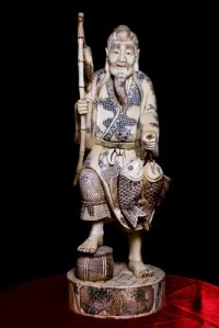 Ivory fisherman sculpture. Japan Sec XIX
