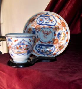 Cup and plate - China.