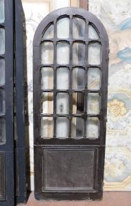 ptl514 - coppia di porte a vetri laccate, epoca II metà XIX secolo, cm l 75 x h 200