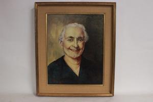 老妇人像,布面油画,55cm X 65cm