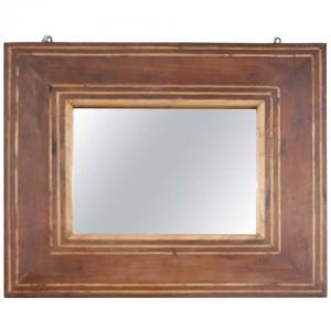 Старинное зеркало из орехового дерева с инкрустацией Карла X века XIX ОТНОСИТЕЛЬНАЯ ЦЕНА
