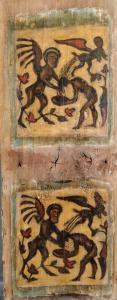 Eccezionale tavola di soffitto dipinta XV secolo
