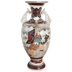 Vaso Vintage Satsuma in Ceramica decorata a mano, 1960 PREZZO TRATTABILE