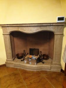 Bresciano marble fireplace