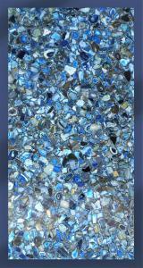 Piano in Agata blu cm 100x200 - spess. 25mm