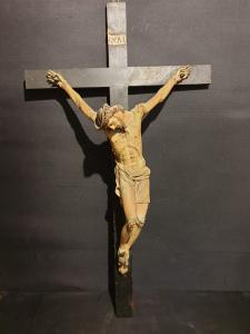 Christ on papier mache cross