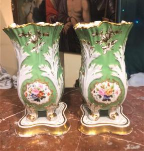 Pair of porcelain vases in Paris, Louis Philippe era