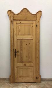 Rustic door with frame