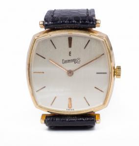 Orologio da polso vintage Eberhard in oro 18k, anni 60/70