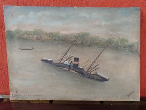 dipinto su tela ECHOUAGE DE L.EDITH CAWEL