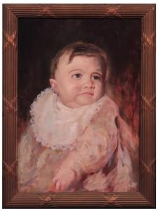 朱塞佩·马斯卡里尼(Giuseppe Mascarini(1877- 1954)-儿童肖像