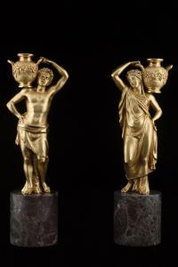 Coppia sculture in bronzo
