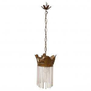 20 世纪早期镀金青铜新艺术运动自由风格枝形吊灯
