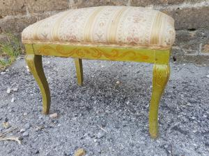 Early 1900s painted lacquered stool