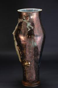 50s luster decorated ceramic vase Federico Quatrini