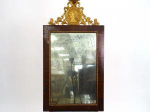 Cornice con specchio e cimasa di ambito francese, prima metà XIX sec