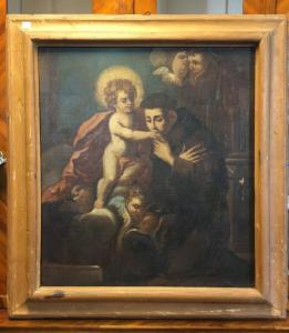 Dipinto Sant Antonio col Bambino XVII secolo