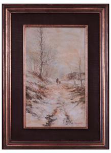 Gino Cirimbelli (Brescia 1920 - 1991) - Landschaft mit Figuren