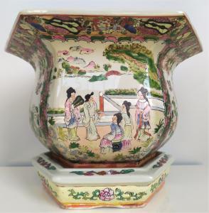 Cachepot in porcellana Canton