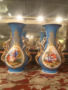 Pair of Liberty vases Hand painted
