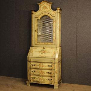 Trumeau veneciano lacado, dorado y pintado.