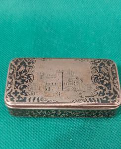 Ниллированная серебряная табакерка XIX века