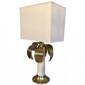 PALMA TABLE LAMP SIGNED SPARK WITH BRASS DETAILS